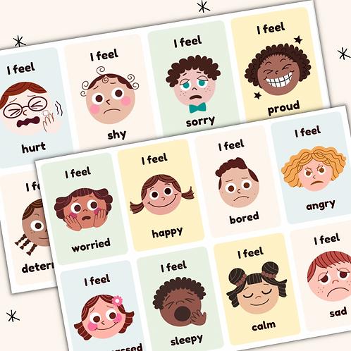 Emotion Flashcards - Printable
