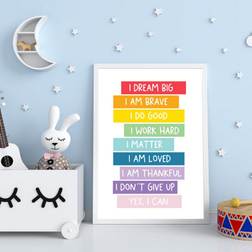 Positive Affirmation Poster - A4