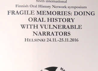 Sixth International Finnish Oral History Network Symposium