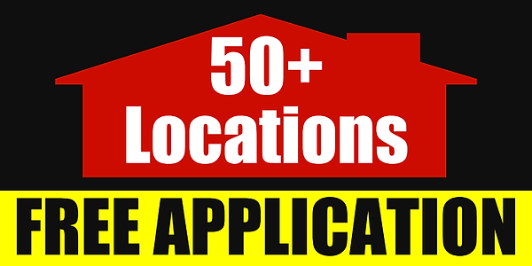 Free Application on over 50 locations