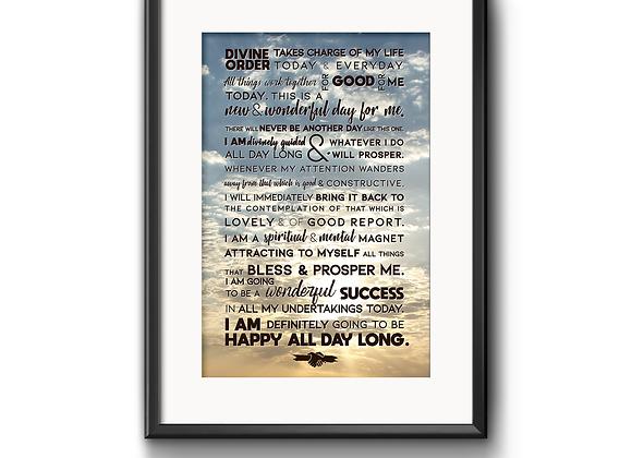 Morning Affirmation Poster
