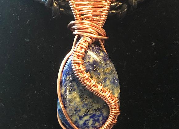 Wrapped Lapis Lazuli Necklace, Courtesy of One Thirty One