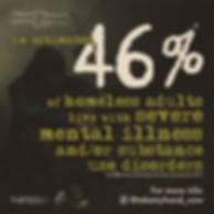 statistic, mental health statistic, homelessness, mental illness