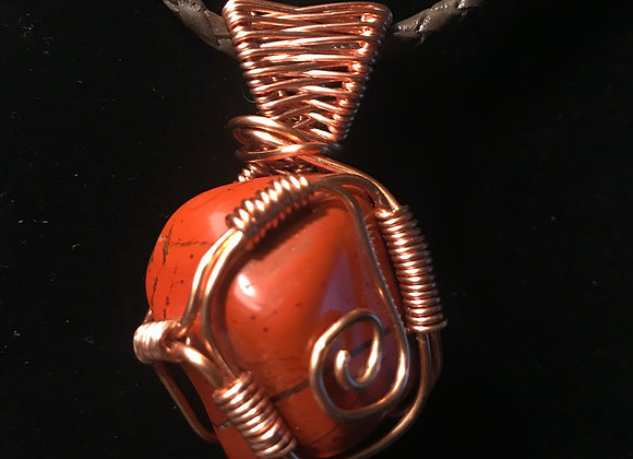 Wrapped Red Jasper Necklace, Courtesy of One Thirty One