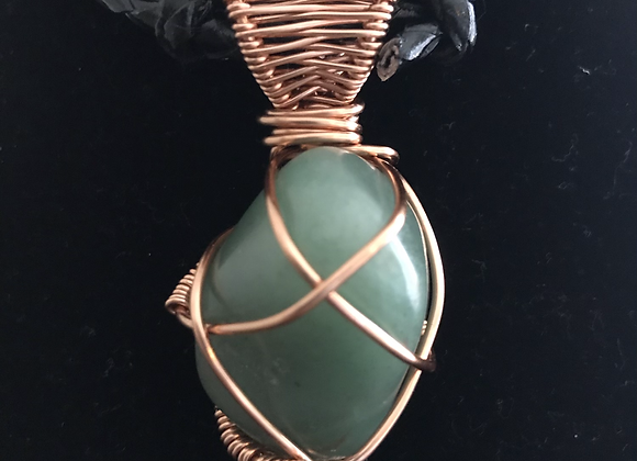 Wrapped Green Aventurine Necklace, Courtesy of One Thirty One