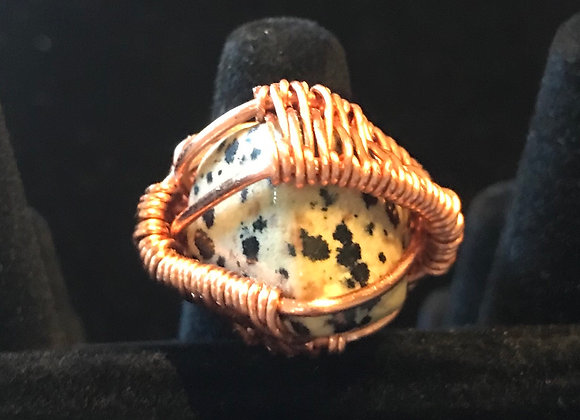 Wrapped Dalmatian Jasper  Ring, Courtesy of One Thirty One
