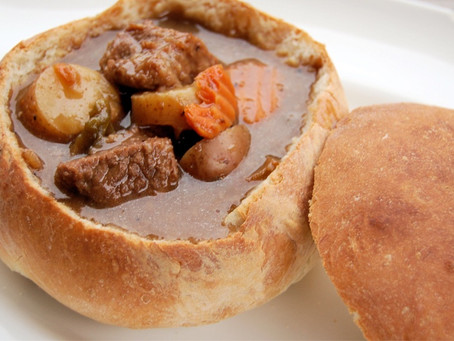 Wild Rabbit Stew Bread Bowl