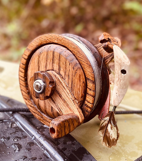 Rustic Hardwood Hand Reel
