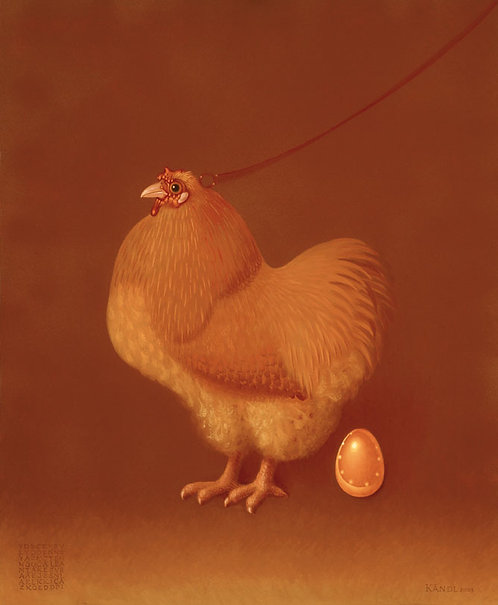 LA POULE AUX ŒUFS D'OR - THE HEN WITH GOLD EGGS