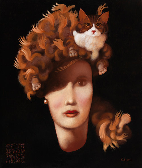 FEMME AU CHAPEAU CHAT LA NUIT - LADY WITH A CAT HAT IN THE NIGHT