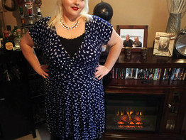 Beautiful Blue..two inexpensive dresses that are perfect for the office.