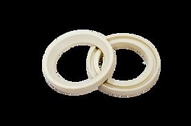 Ball valve seals made of PLASTMASS PEEK