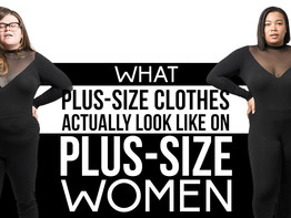 This is what plus size clothes look like on a real model...humorous but true