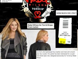 Rebel Wilson's Drape Front Jacket