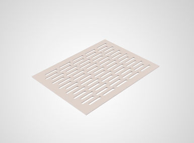 Perforated plastic sheets_long lines wit