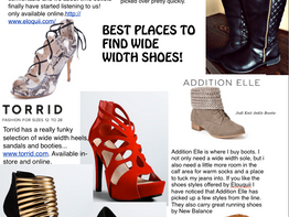 Where we find Trendy Wide Width Shoes