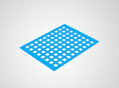 Perforated plastic sheets_rectangle with