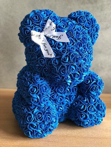 Modrý medvídek s mašlí