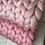 Thumbnail: Světle růžová merino deka