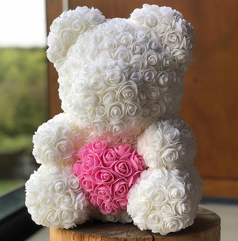 Bílý medvídek se srdcem