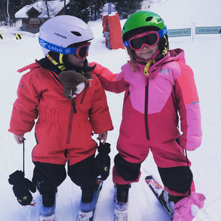 First winter on snow - William & Aoife (aged 3 & 4)