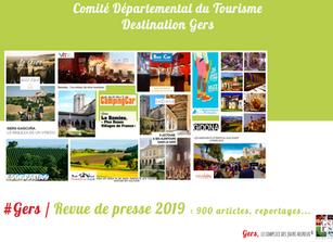 Revue de Presse de l'année 2019 : 900 articles et reportages ont parlé de la Destination Gers !