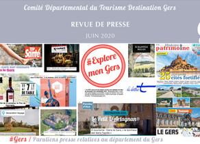 Le Gers dans les médias :  plus de 65 articles ont vanté la Destination en juin !