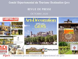Le Gers dans les médias :  près de 50 articles ont vanté la Destination en octobre !
