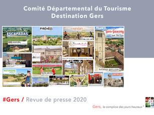 Revue de Presse de l'année 2020 : 810 articles et reportages ont parlé de la Destination Gers
