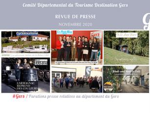 Le Gers dans les médias :  près de 65 articles ont vanté la Destination en novembre !