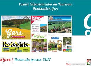 Revue de Presse 2017 :  plus de 830 articles et reportages ont parlé de la Destination  Gers !