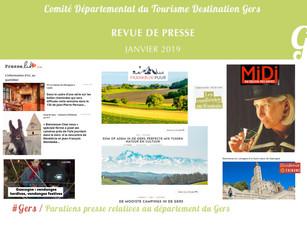 Le Gers dans les médias : 40 articles ont vanté la Destination en janvier !