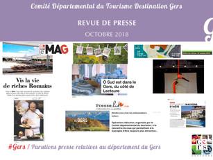 Le Gers dans les médias : Plus de 60 articles ont vanté la Destination en octobre !