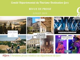Le Gers dans les médias : plus de  110 articles ont vanté la Destination en juillet !