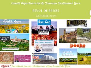Le Gers dans les médias :  près de 70 articles ont vanté la Destination en octobre !