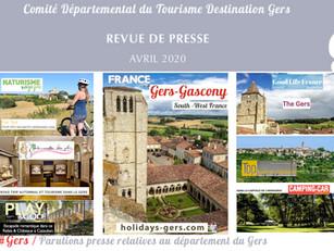 Le Gers dans les médias :  plus de 60 articles ont vanté la Destination en avril !