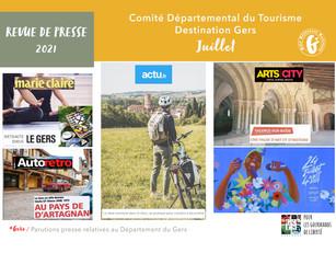Le Gers dans les médias : près de 120 articles ont vanté la Destination en juillet