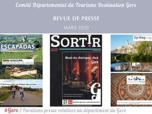 Le Gers dans les médias :  près de 40 articles ont vanté la Destination en mars !