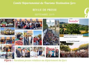 Le Gers dans les médias :  60 articles ont vanté la Destination en septembre !