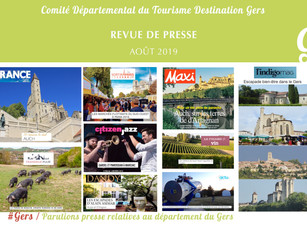 Le Gers dans les médias : plus de  80 articles ont vanté la Destination en août !