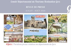 Le Gers dans les médias :  plus de 140 articles ont vanté la Destination en juillet et août  !