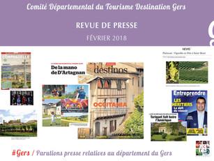 Le Gers dans les médias :  40 articles ont vanté la Destination au mois de février !