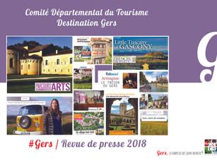 Revue de Presse 2018 :  plus de 860 articles et reportages ont parlé de la Destination Gers !