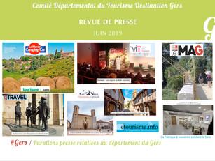 Le Gers dans les médias : près de  75 articles ont vanté la Destination en juin !