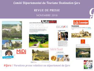 Le Gers dans les médias : plus de 50 articles ont vanté la Destination en novembre !