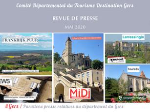 Le Gers dans les médias : près de 45 articles ont vanté la Destination en mai !