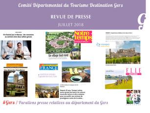 Le Gers dans les médias : Plus de 90 articles ont vanté la Destination en juillet !