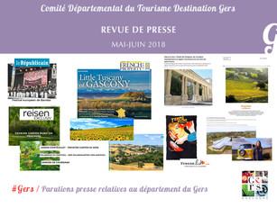 Le Gers dans les médias : Plus de 120 articles ont vanté la Destination en mai et juin !