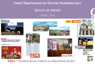 Le Gers dans les médias : Plus de 120 articles ont vanté la Destination ces deux derniers mois !