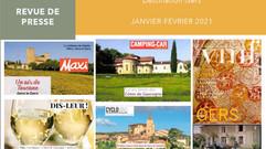 Le Gers dans les médias : plus de 75 articles ont vanté la Destination en janvier et février !